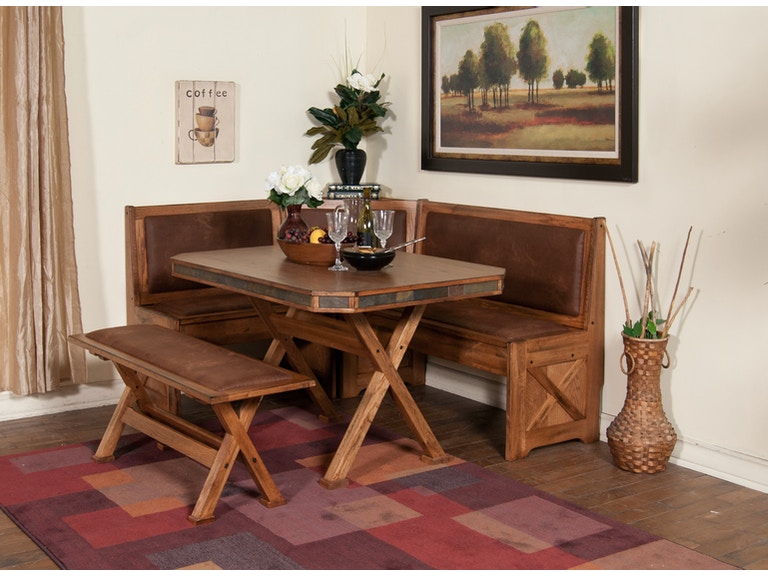 Sunny Designs Dining Room Sedona Breakfast Nook Set With Side Bench