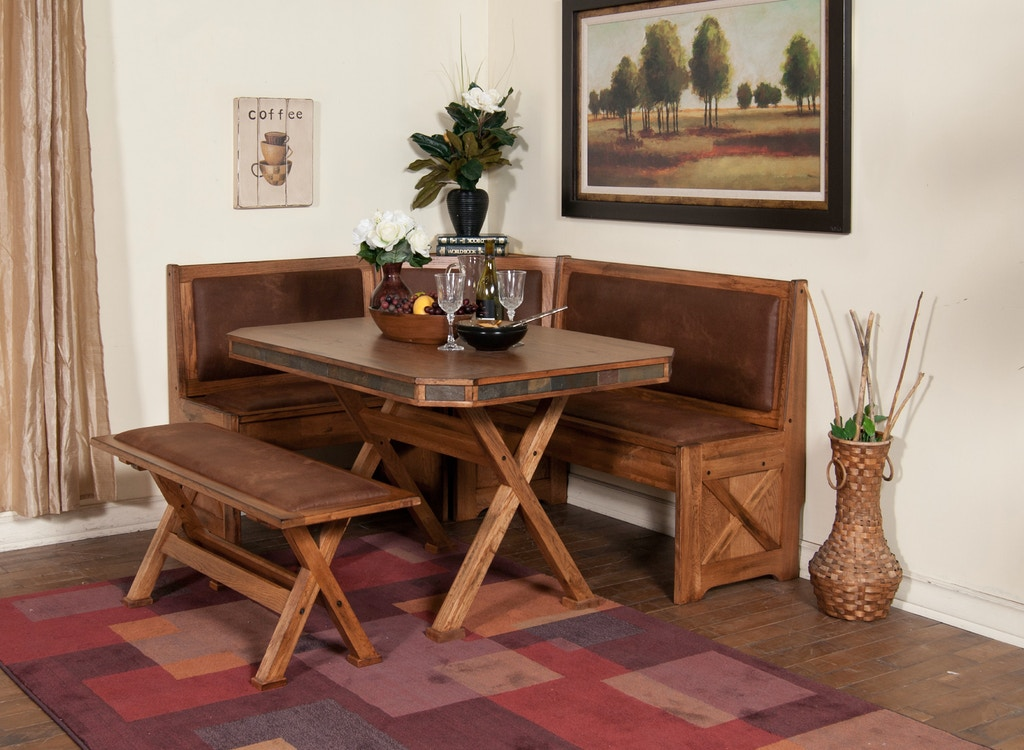 Sunny Designs Dining Room Sedona Breakfast Nook Set With ...