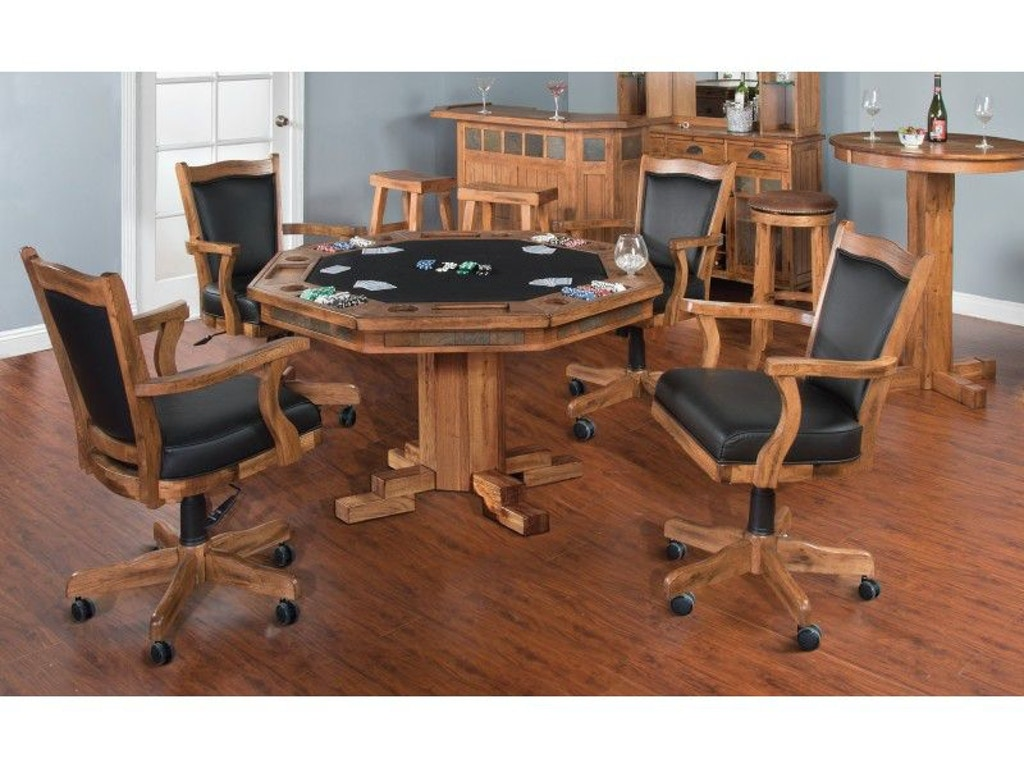 Sunny Designs Bar And Game Room Sedona Game And Dining Table 1004ro Bennington Furniture