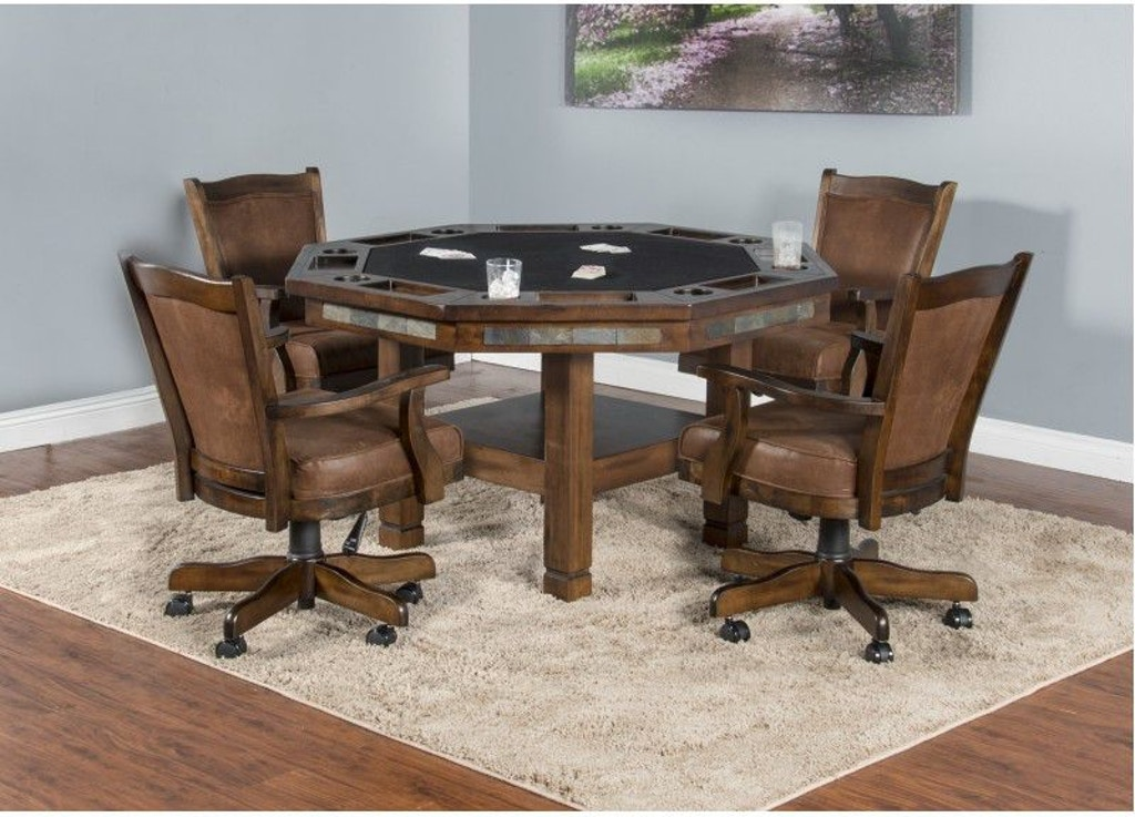 Sunny Designs Bar And Game Room Santa Fe Game And Dining Table 1005dc Bennington Furniture