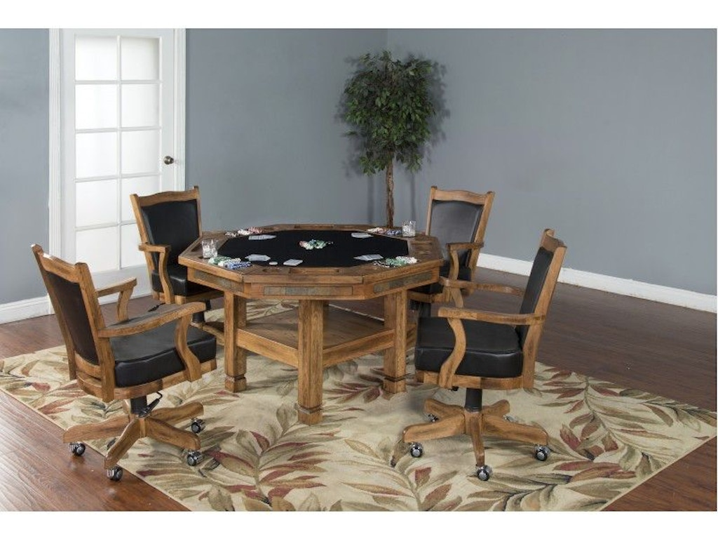 Sunny Designs Bar And Game Room Sedona Game And Dining Table Four States Furniture Texarkana