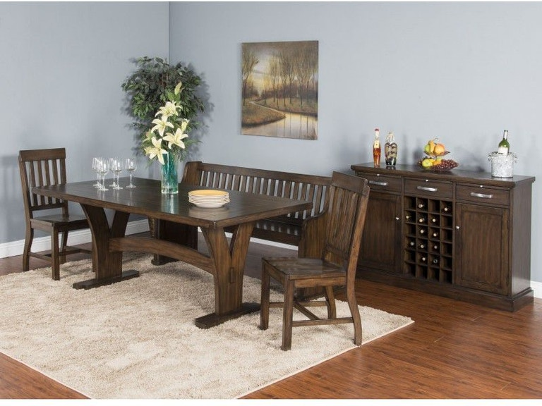 Sunny Designs Dining Room Lancaster Trestle Table 1027rc Eller And