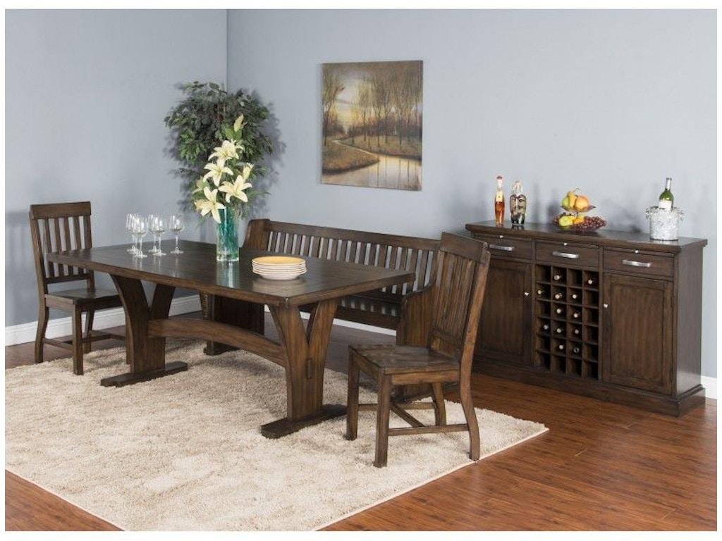 Sunny Designs Dining Room Lancaster Trestle Table 1027rc Eastern Furniture Santa Clara Ca