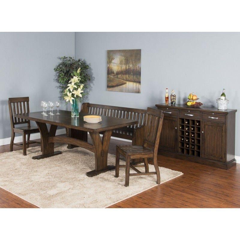 Sunny Designs Dining Room Lancaster Slatback Bench 1437RC At Bennington  Furniture