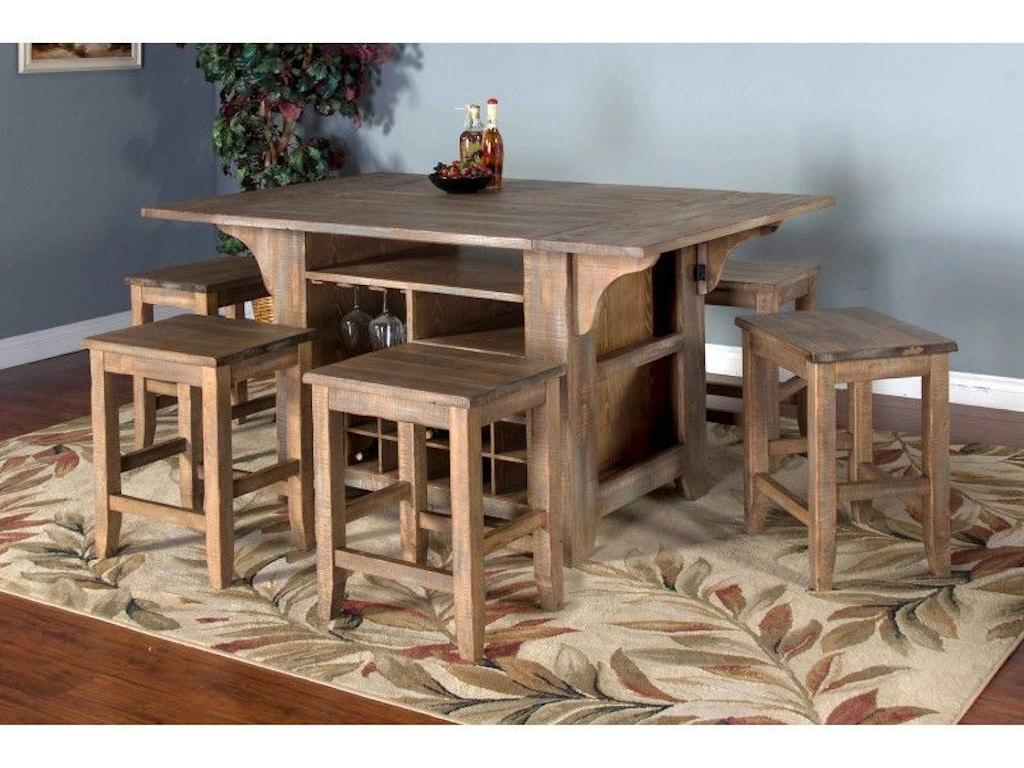 Sunny designs puebla kitchen island 1030dw simply discount furniture santa clarita and - Cheap kitchen island tables ...