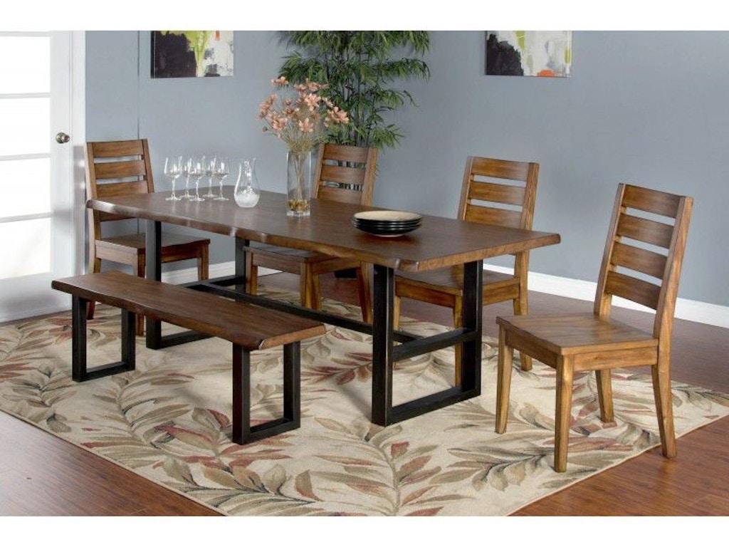 Sunny Designs Dining Room Live Edge Table 1031nm Eastern Furniture Santa Clara Ca