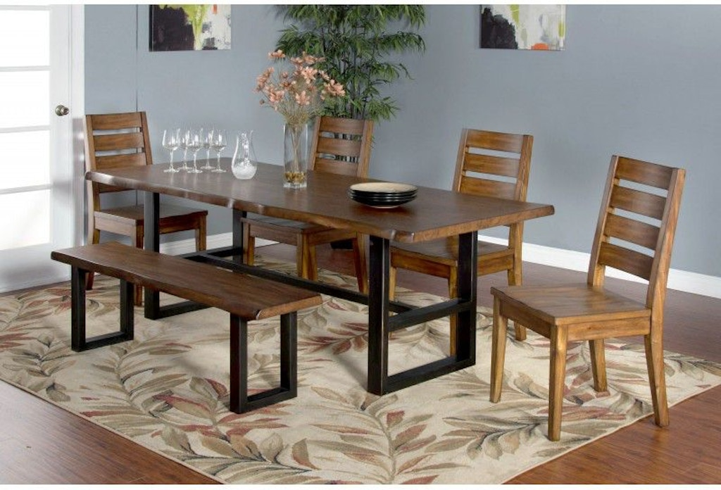 Sunny Designs Dining Room Live Edge Table 1031nm Blockers Furniture Ocala Fl