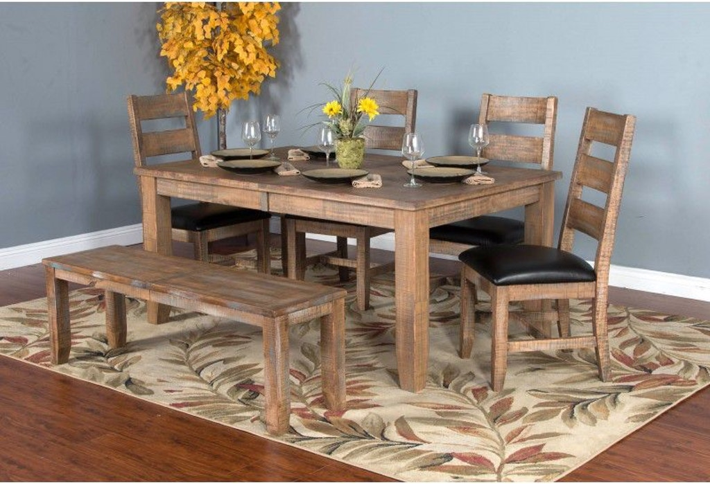 Magnificent Sunny Designs Dining Room Puebla Dining Table 1140Dw Interior Design Ideas Ghosoteloinfo