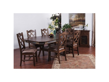 Sunny Designs Savannah Adj. Height Dining Table With Dbl Btfly Lf 1151AC