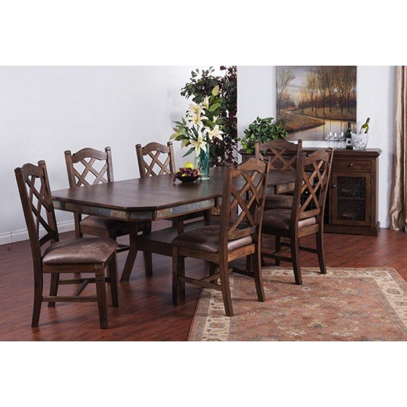 Sunny Designs Savannah Adj. Height Dining Table With Dbl Btfly Lf 1151AC