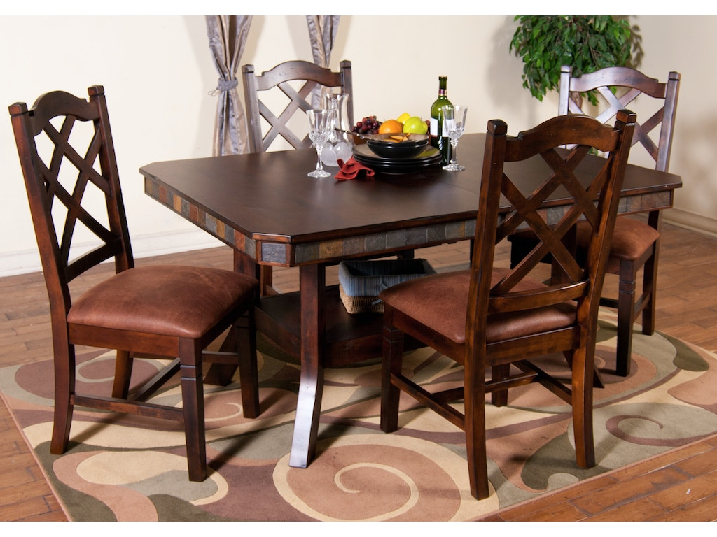 Sunny designs dining room santa fe double crossback chair for Furniture yuba city