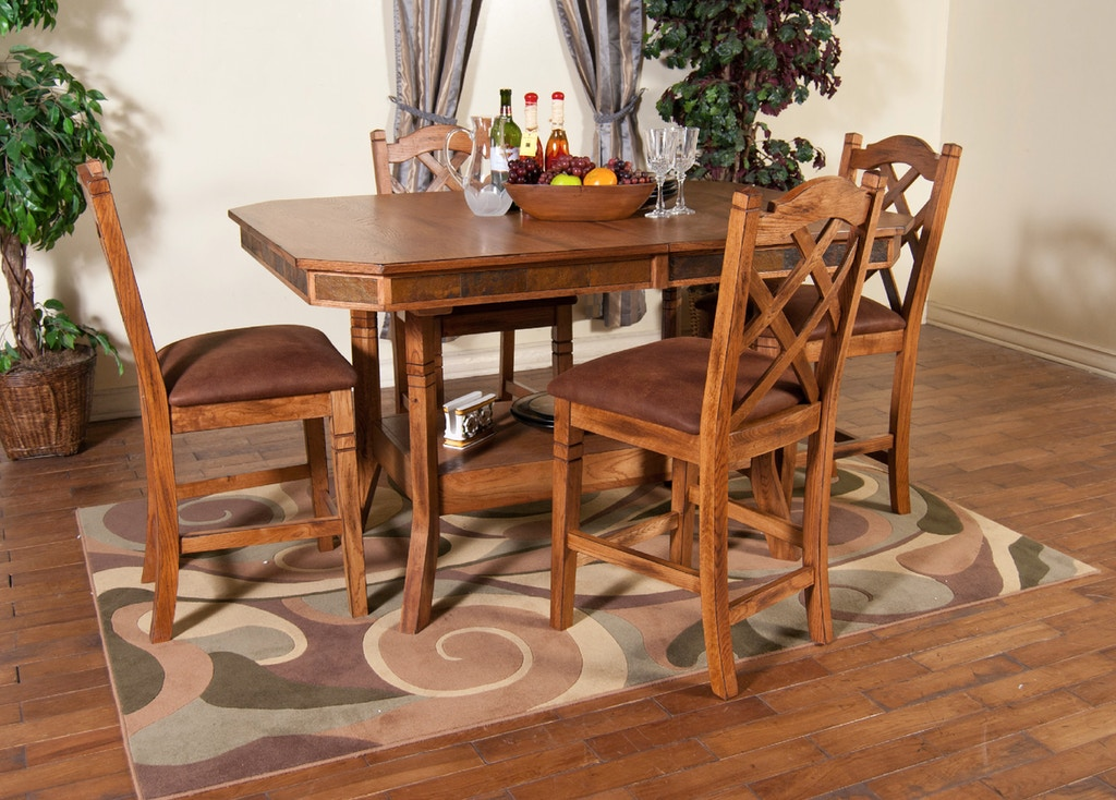 Sunny Designs Dining Room Sedona Adj Height Dining Table