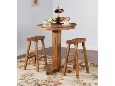 "Sunny Designs Sedona Pub Table, 36""Rx42""H 1165RO"
