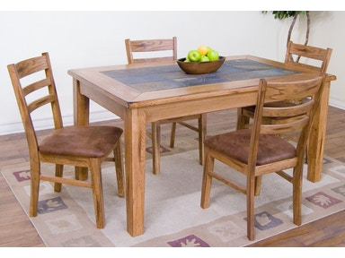Sunny Designs Furniture Naturwood Home Furnishings Sacramento CA - Dining table with slate inlay