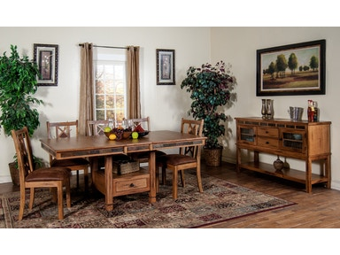 Sunny Designs Sedona Butterfly Dining Table With Slate 1177RO