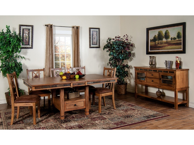 Sunny Designs Dining Room Sedona Erfly Table With