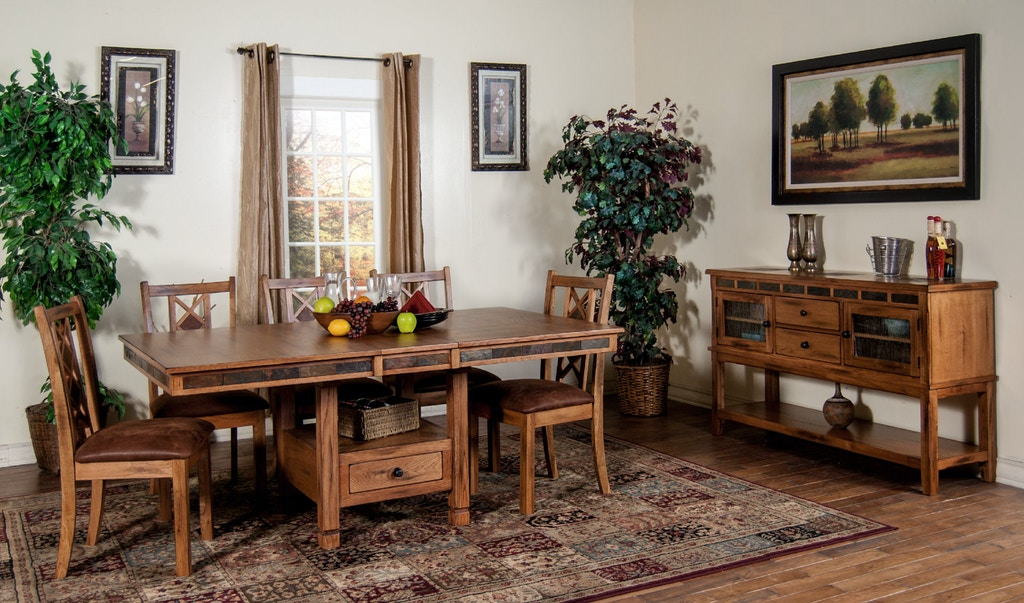 Sunny designs dining room sedona butterfly dining table for Design source furniture az