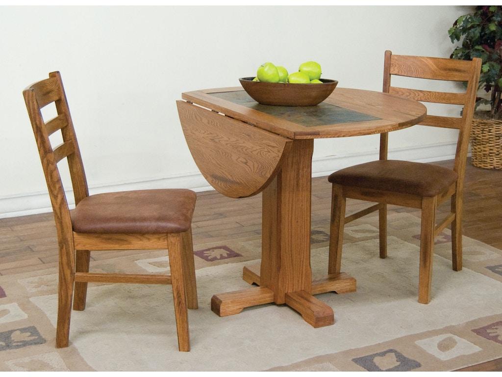 Sunny Designs Dining Room Sedona Drop Leaf Table With Slate 1223ro Bennington Furniture