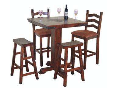 Sunny Designs Santa Fe Pub Table With Slate 1232DC