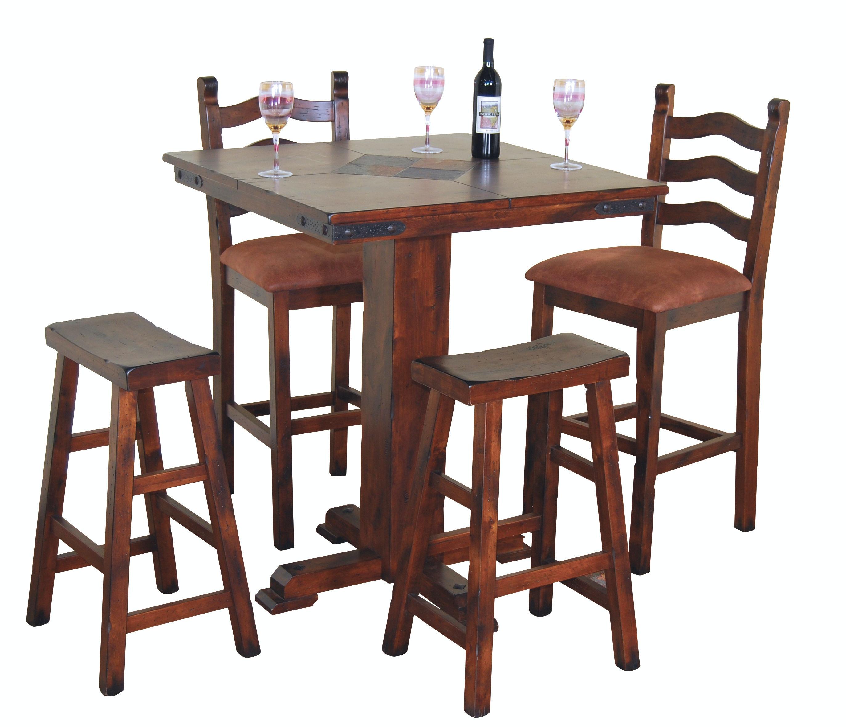 Sunny Designs Santa Fe Pub Table With Slate 1232DC