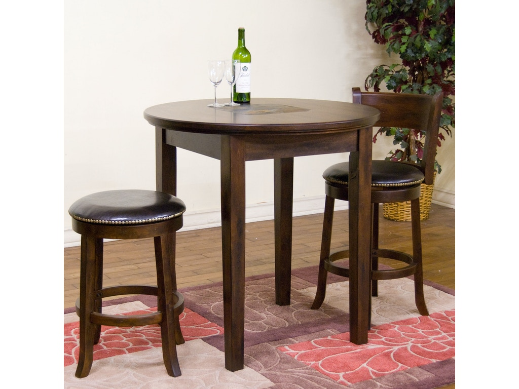 Sunny Designs Bar And Game Room Swivel Backless 24 Barstool 1782dc Seaside Furniture Toms