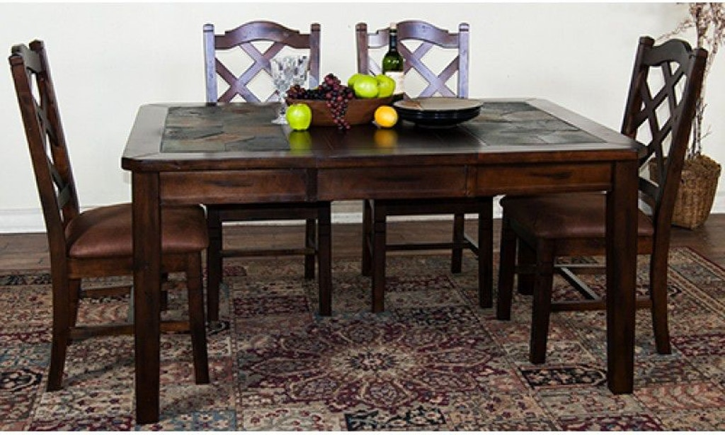 Sunny Designs Dining Room Santa Fe Extension Table With Slate 1273dc Simply Discount Furniture