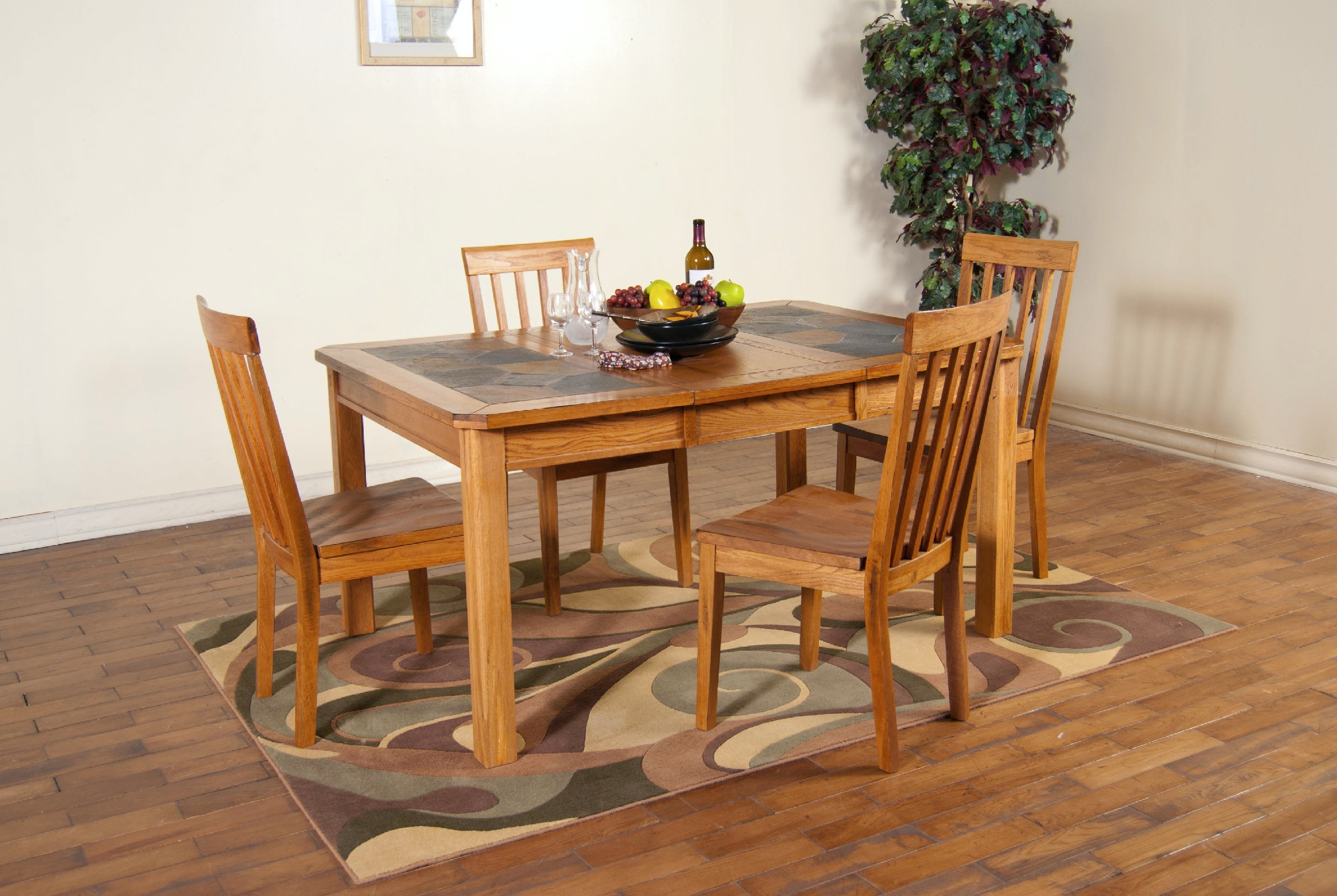 Sunny Designs Sedona Extension Table With Slate Top 1273/5PCSET