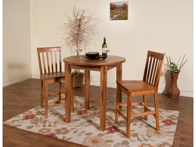 Sunny Designs Sedona Pub Table With Wood Top 1278RO