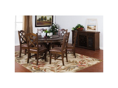 Sunny Designs Savannah Rnd Table With Lazy Susan 1365AC