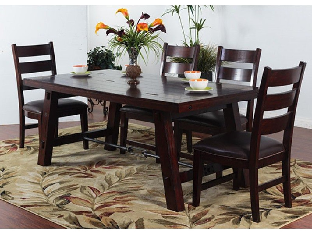 Sunny designs dining room vineyard rectangular table for Table design odessa fl