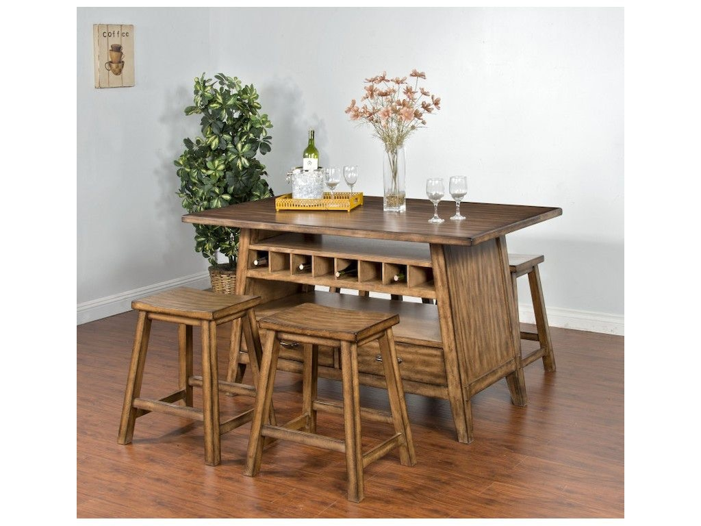Sunny Designs Dining Room Cornerstone Table 1398bm Seaside Furniture Toms River Brick And