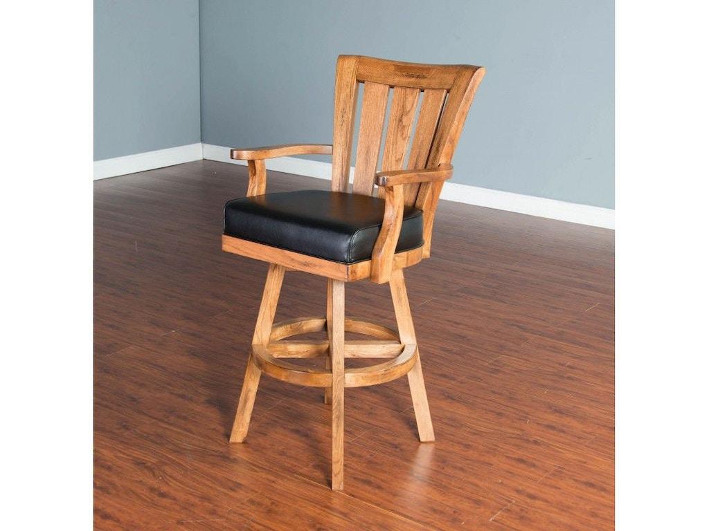Sunny Designs Bar And Game Room Sedona 30 Slatback Barstool 1412ro 30 Seaside Furniture