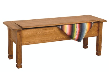 Sedona Side Bench With Storage/Wooden Seat 1592RO