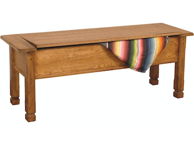 Sunny Designs Sedona Side Bench With Storage/Wooden Seat 1592RO