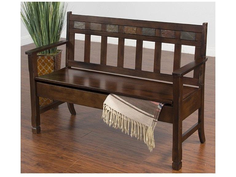 Sunny Designs Living Room Santa Fe Deacon S Bench With Storage