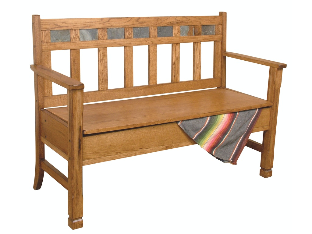 Sunny Designs Living Room Sedona Bench With Storage Wooden Seat 1594ro Seaside Furniture