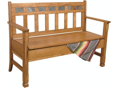 Sunny Designs Sedona Bench With Storage/Wooden Seat 37997