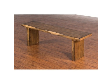 Sunny Designs Live Edge Bench 1617NW