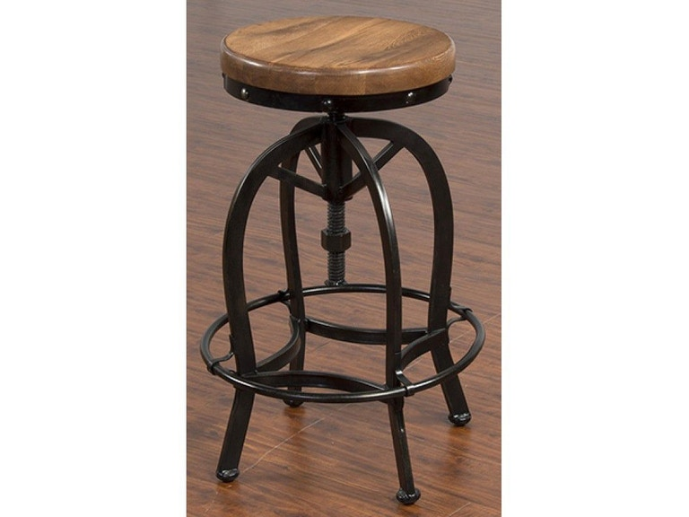 Sunny Designs Bar And Game Room Adjustable Metal Stool