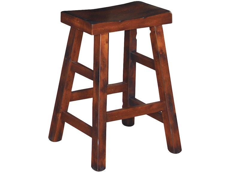 Sunny Designs Santa Fe Saddle Seat Stool Wooden 1768dc