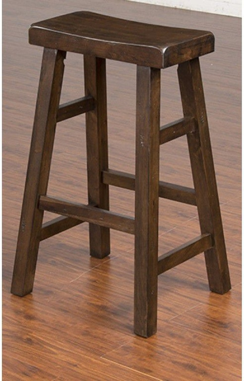 Sunny Designs Bar And Game Room Savannah Saddle Seat Stool