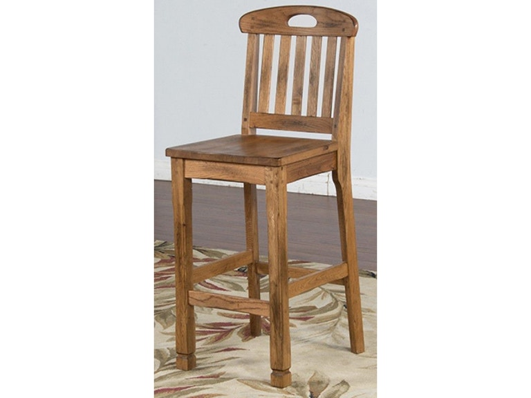 Sunny Designs Bar And Room Slatback Barstool 1821ro At Hennen Furniture