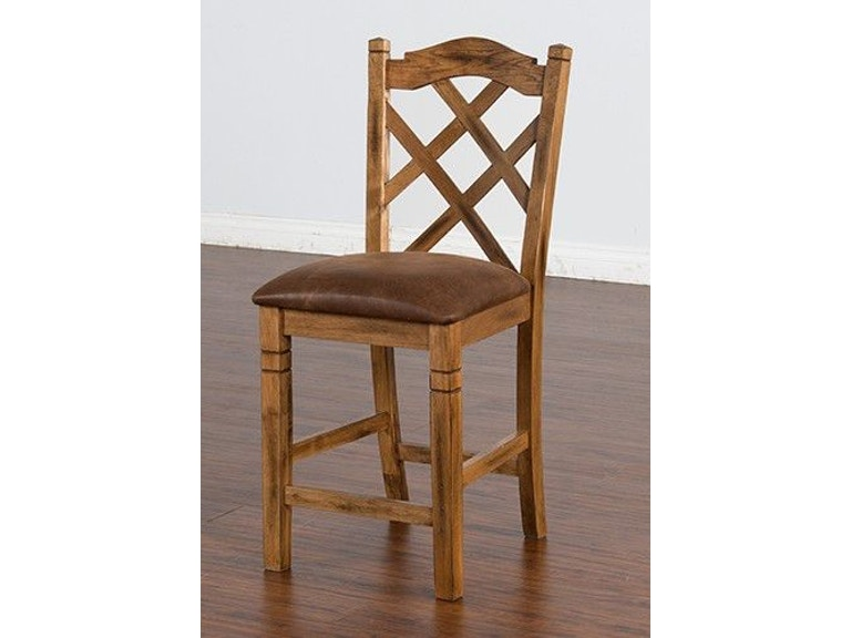 dd794dcd29b Sunny Designs Bar and Game Room Sedona Double Crossback Barstool 1848RO at  China Towne Furniture