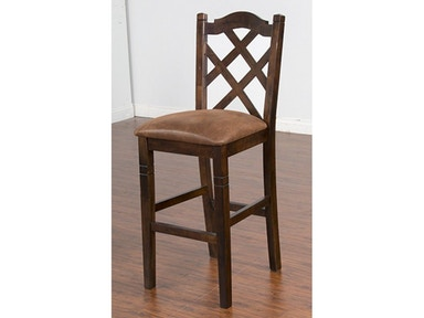 Sunny Designs Dbl Crossback Barstool/Cushion Seat 1849DC