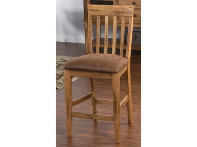 Sunny Designs Sedona Slatback Barstool With Cushion Seat 1854RO-CT