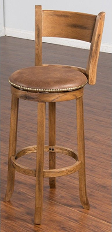 Sunny Designs Bar And Game Room Swivel Stool With Back
