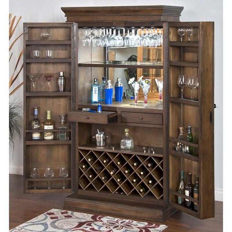 Sunny Designs Savannah Traditional Bar Armoire 1913AC