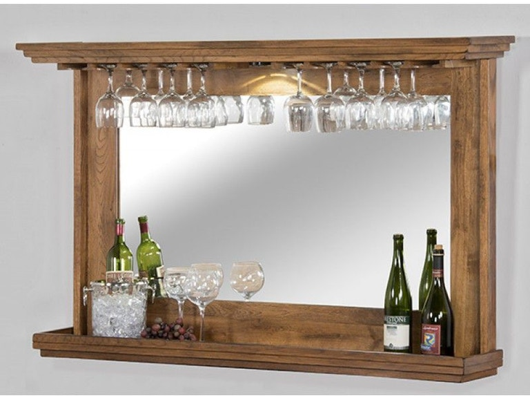 Sunny Designs Bar and Game Room Hanging Backbar With Mirror And Led ...