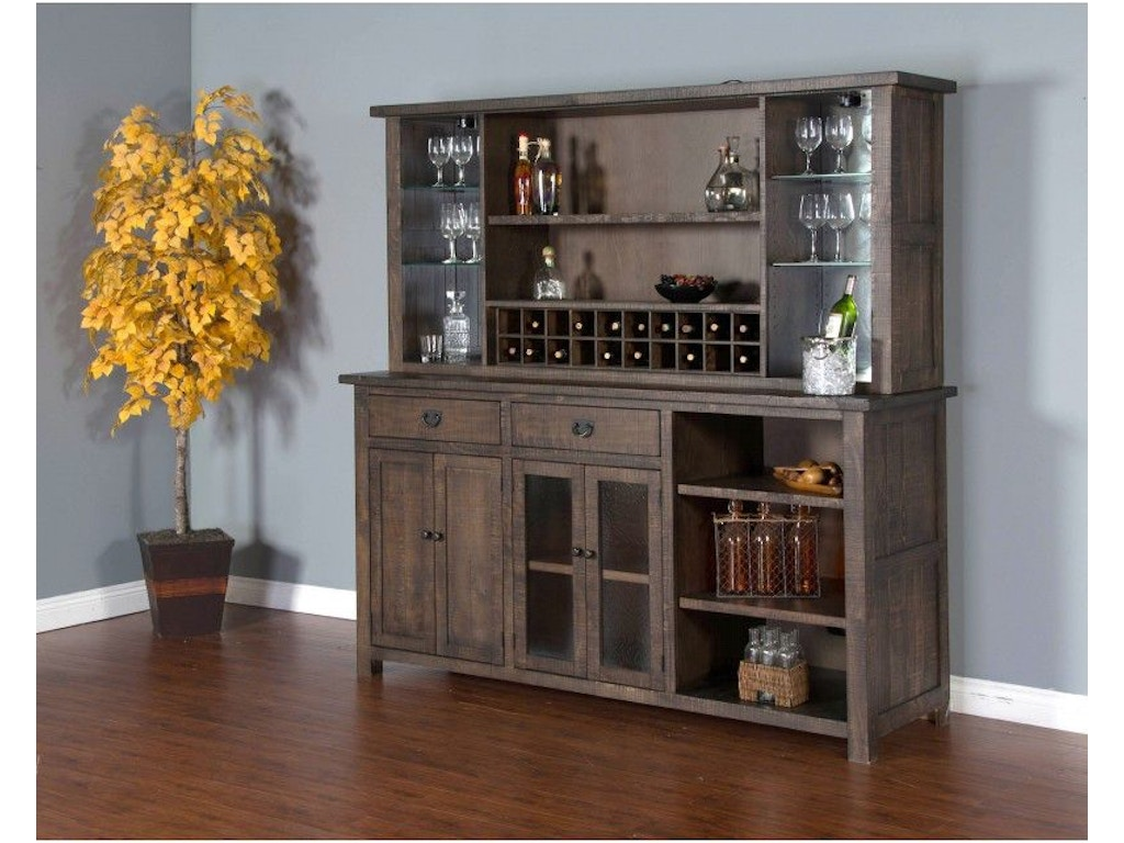 Sunny Designs Dining Room Tobacco Leaf Hutch And Buffet 1969TL At Simply Discount Furniture