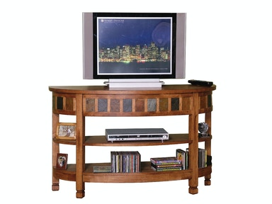 Sunny Designs Sedona Curved Entry/TV Console 2135RO